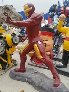 景观雕塑玻璃钢超人雕塑