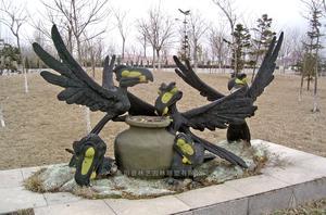 铜雕动物1005