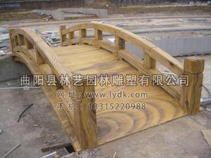 公园水泥仿木桥