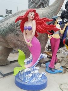 玻璃钢景观雕塑美人鱼
